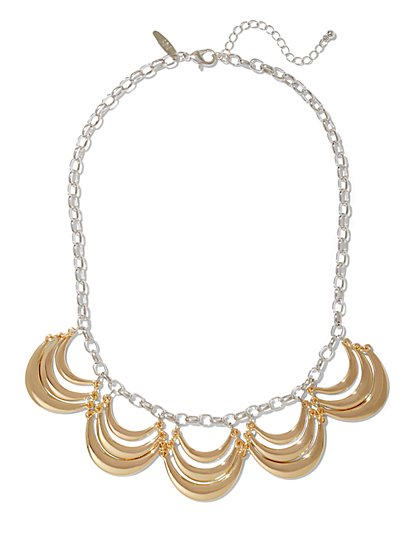 Semi-Circle Bib Necklace  - New York & Company