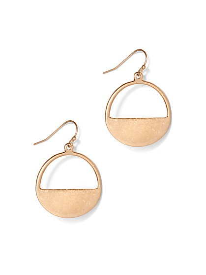 Semi-Circle Hoop Drop Earring - New York & Company