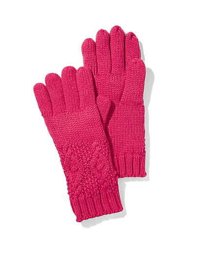 Sequin Cable Gloves  - New York & Company