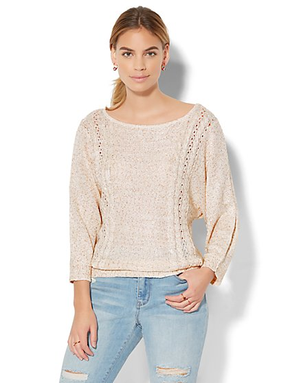 Sequin Dolman Sweater - New York & Company