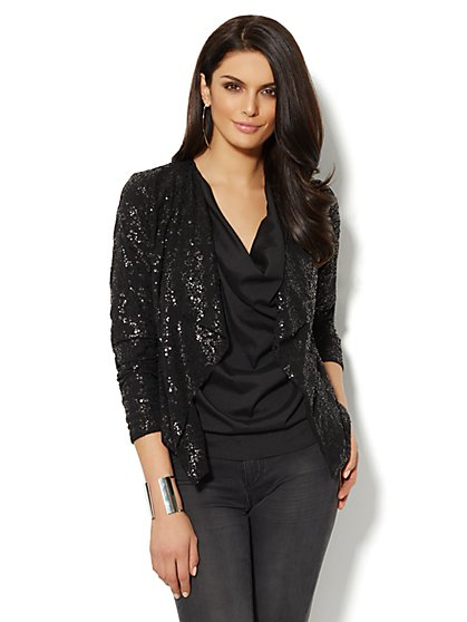 Sequin Flyway Jacket  - New York & Company