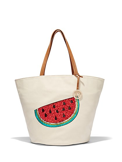 Sequin Fruit Tote  - New York & Company