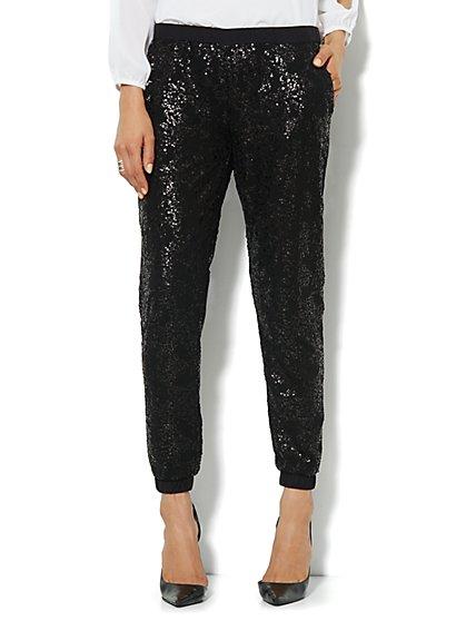 Sequin Jogger Soft Pant - New York & Company