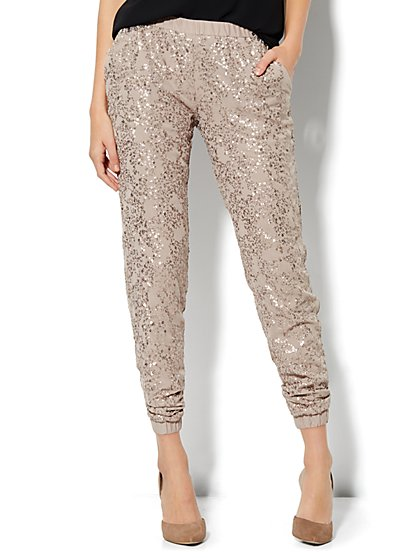 Sequin Jogger Soft Pant - New York & Company