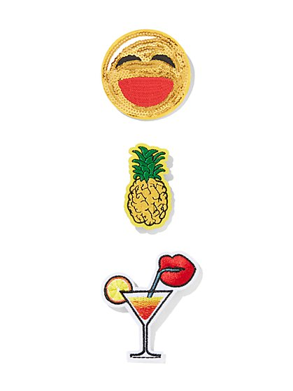 Sequin Pineapple Patch Set  - New York & Company