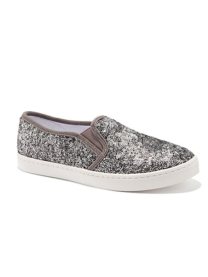 Sequin Slip-On Sneaker - New York & Company