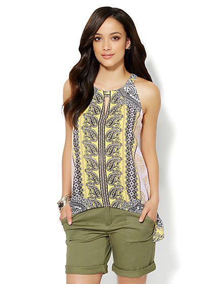 Sharkbite Halter Top - Paisley - Petite - New York & Company