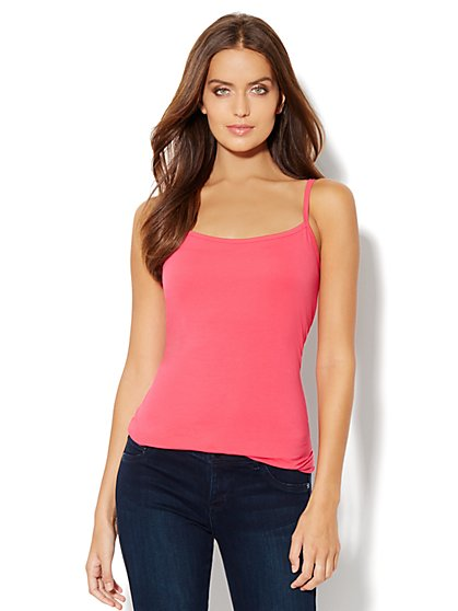 Shelf-Bra Camisole Shaper - Cotton  - New York & Company