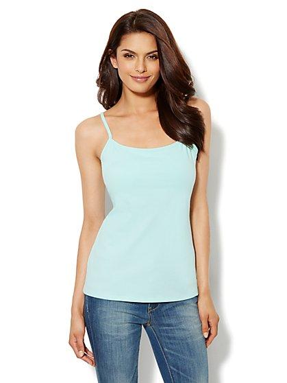 Shelf-Bra Camisole Shaper - Cotton  - New York & Company