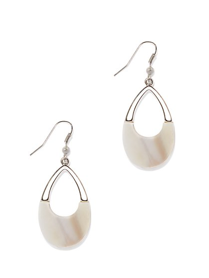 Shell Open-Teardrop Earring  - New York & Company