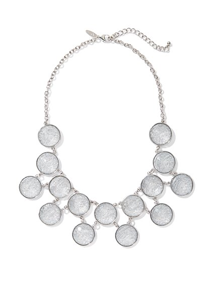 Shimmer Cabochons Bib Necklace