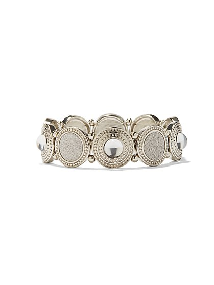 Shimmering Circle Stretch Bracelet  - New York & Company