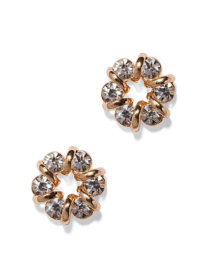 Shimmering Circular Post Earring  - New York & Company
