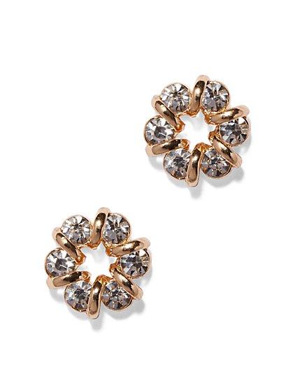 Shimmering Circular Post Earring  - New York & Company