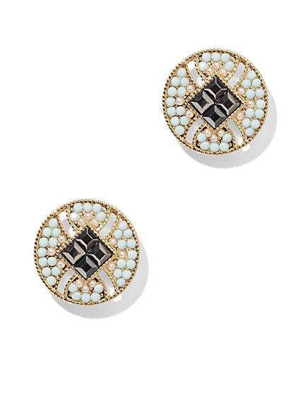 Shimmering Disc Stud Earring  - New York & Company