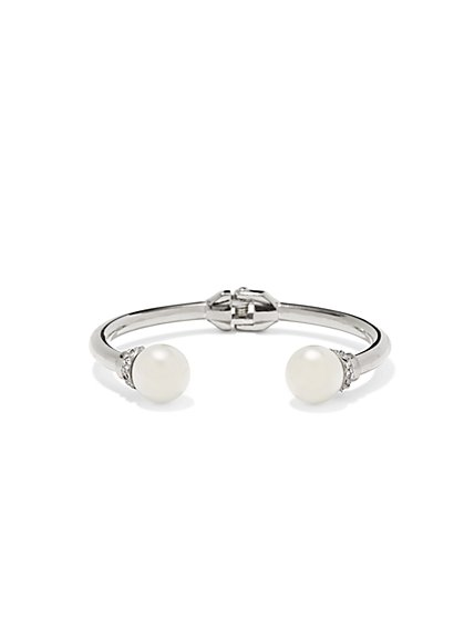 Shimmering Faux-Pearl Hinge Bracelet  - New York & Company