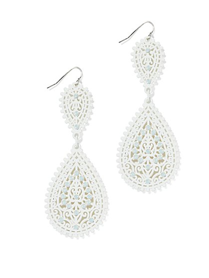 Shimmering Filigree Earring  - New York & Company