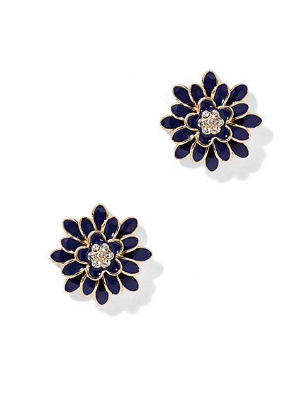 Shimmering Floral Earring  - New York & Company