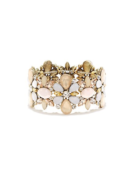 Shimmering Floral Stretch Bracelet  - New York & Company