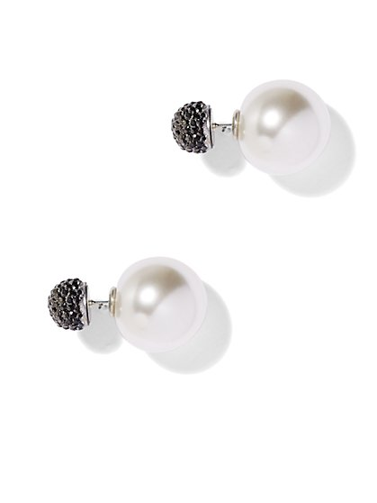 Shimmering Front/Back Earring  - New York & Company