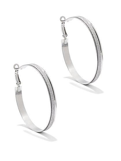 Shimmering Hoop Earring  - New York & Company