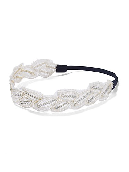 Shimmering Leaf Headband - New York & Company