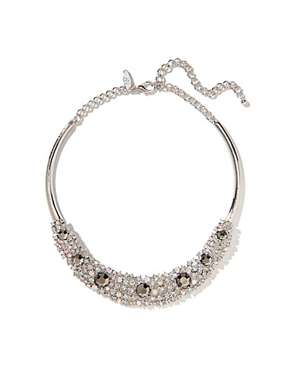 Shimmering Net Collar Necklace  - New York & Company