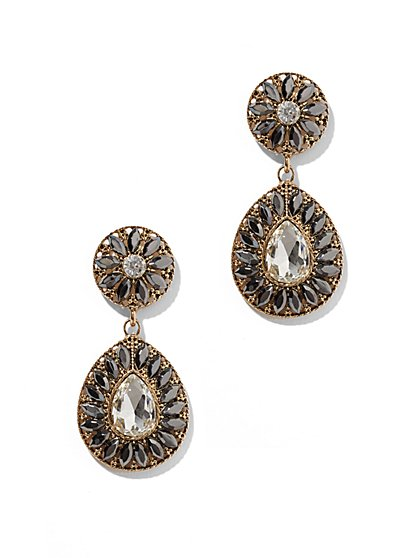 Shimmering Post Teardrop Earrings  - New York & Company