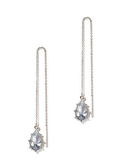 Shimmering Pull-Through Earring  - New York & Company