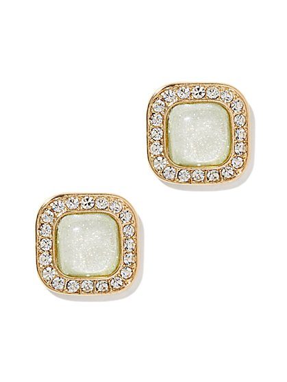 Shimmering Square Post Earring  - New York & Company