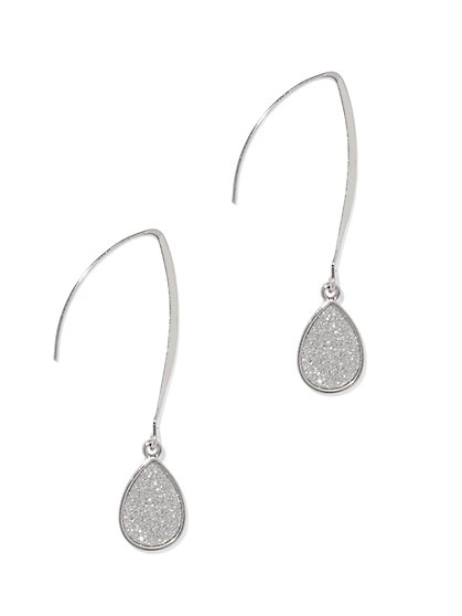 Shimmering Teardrop Earring  - New York & Company