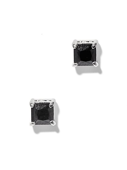 Shining Black Faceted Stud Earrings - New York & Company