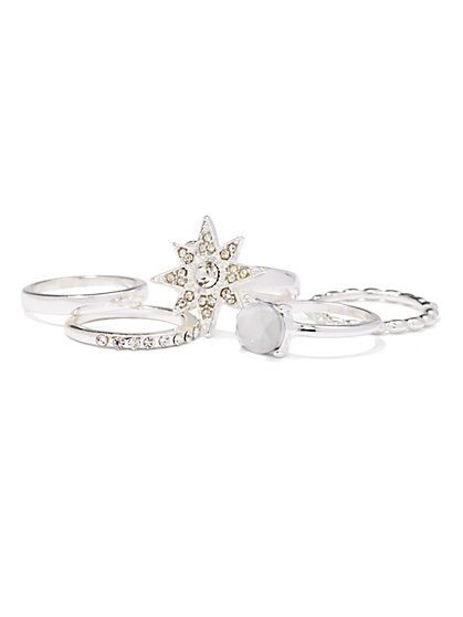 Shining Star Ring Set  - New York & Company