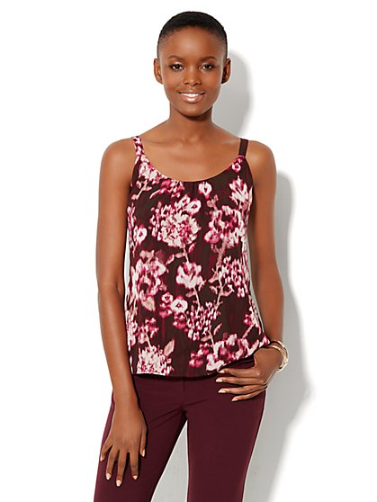 Shirred Print Camisole - New York & Company
