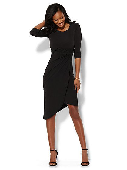 Shirred Wrap Dress  - New York & Company