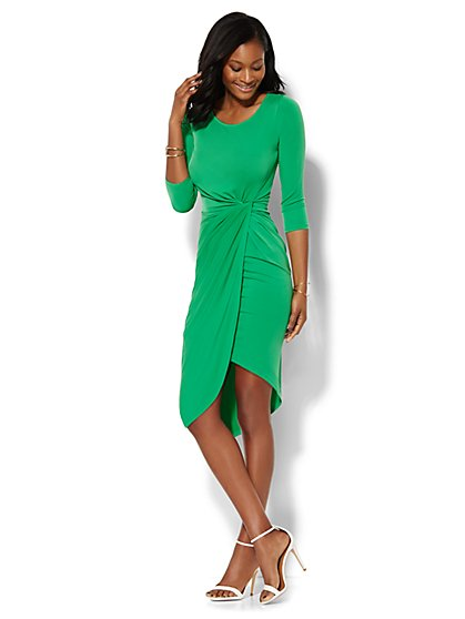Shirred Wrap Dress  - New York & Company