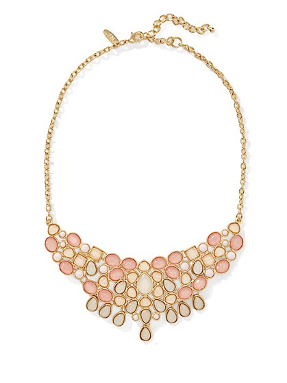 Short Cluster Bib Necklace  - New York & Company
