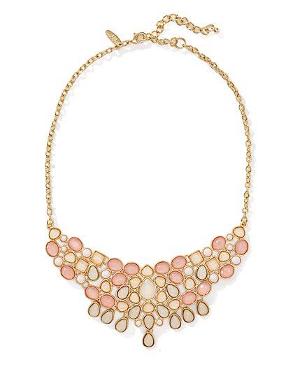 Short Cluster Bib Necklace  - New York & Company