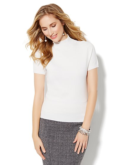 Short-Sleeve Turtleneck - New York & Company