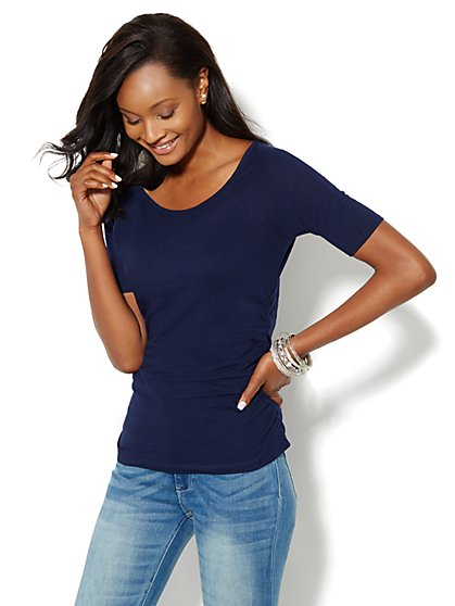 Side-Shirred Top - New York & Company
