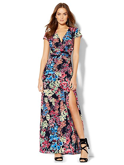 Side-Slit Maxi Skirt - Floral - New York & Company