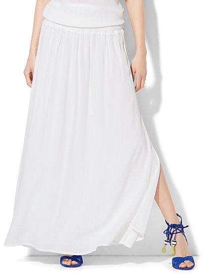 Side-Slit Maxi Skirt  - New York & Company