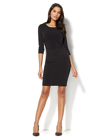 Side Tie Knit Dress - Petite - New York & Company