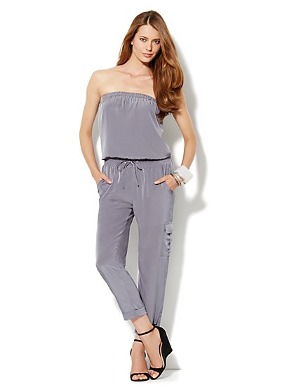 Silky Cargo Jumpsuit - New York & Company