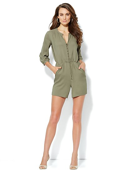 Silky Shirred Romper
