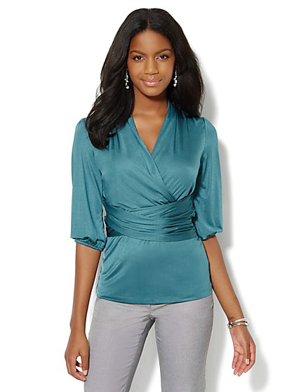 Silky Wrap Top - New York & Company