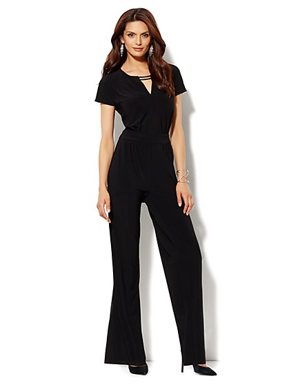 Silver-Hardware Jumpsuit - New York & Company