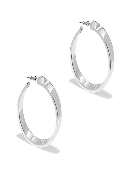 Silver Hoop Earring - New York & Company