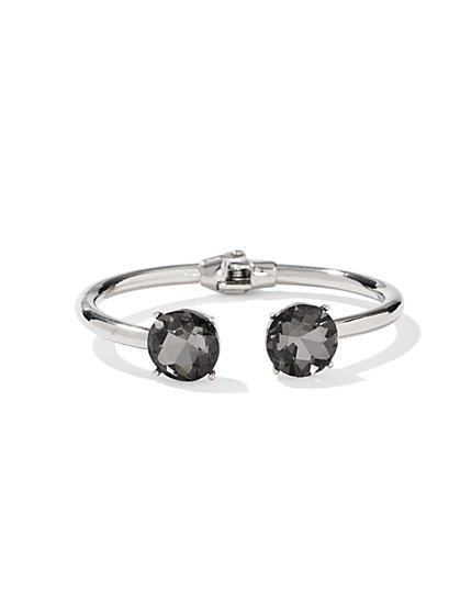 Silver Open-Hinge Bracelet - New York & Company