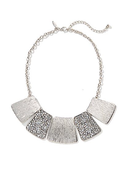 Silver Plates Necklace